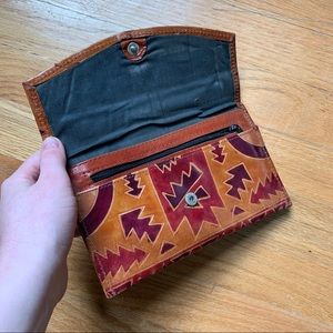 Vintage Bags - tooled leather wallet